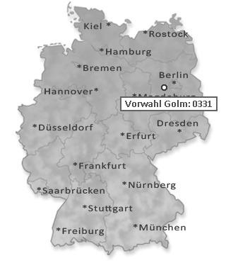 Telefonvorwahl Potsdam