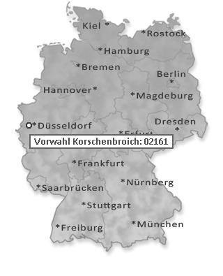 Vorwahl Telefon Korschenbroich 02161